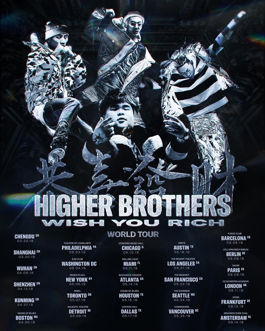 Higher Brothers 世界巡演即將啓動